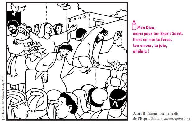 Un dessin de Kieffer pour la Pentecôte (ABC) | Saint ...