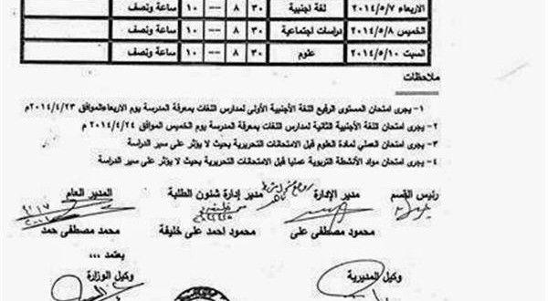 جدول امتحان الشهادة الابتدائية محافظة اسيوط 2014 جدول امتحان سادس ابتدائي اسيوط 2014 Math Math Equations