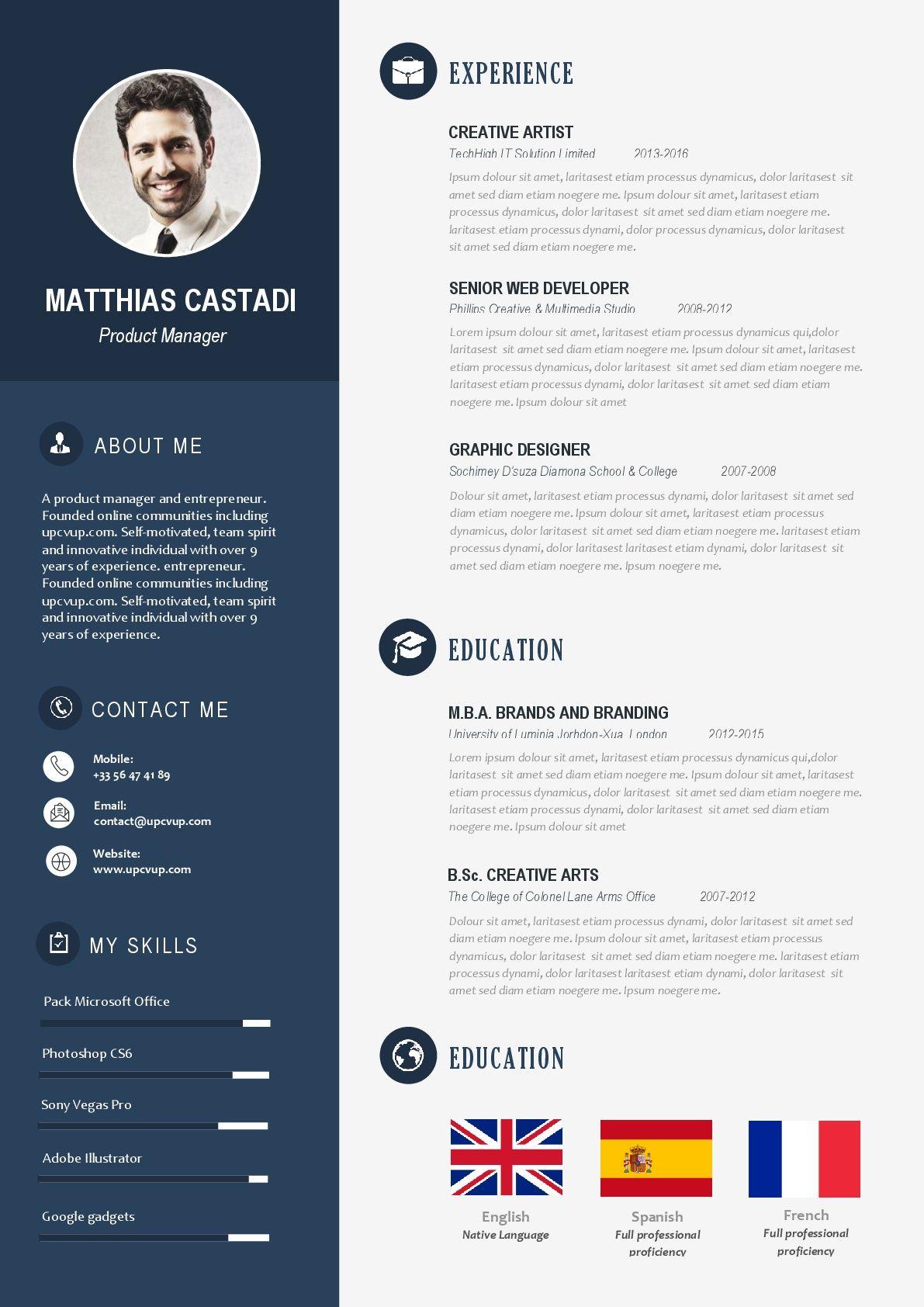 top 20 des exemples de cv modernes  u00e0 t u00e9l u00e9charger en format word et pdf