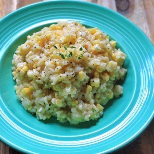 Creamy Sweet Corn Risotto Recipe