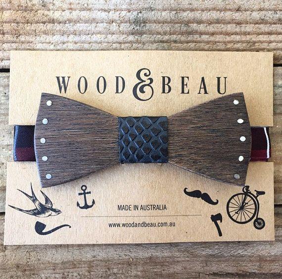 Nailed It 02 Wooden Bow Tie Wooden Bow Tie Wooden Tie Wood Bowtie