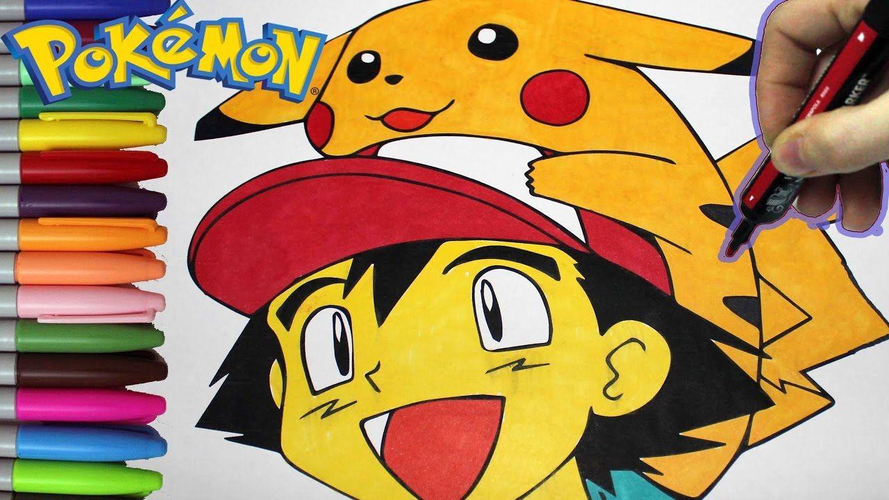Pokémon Pikachu and Ash Ketchum Coloring Book - Pokémon Coloring ...