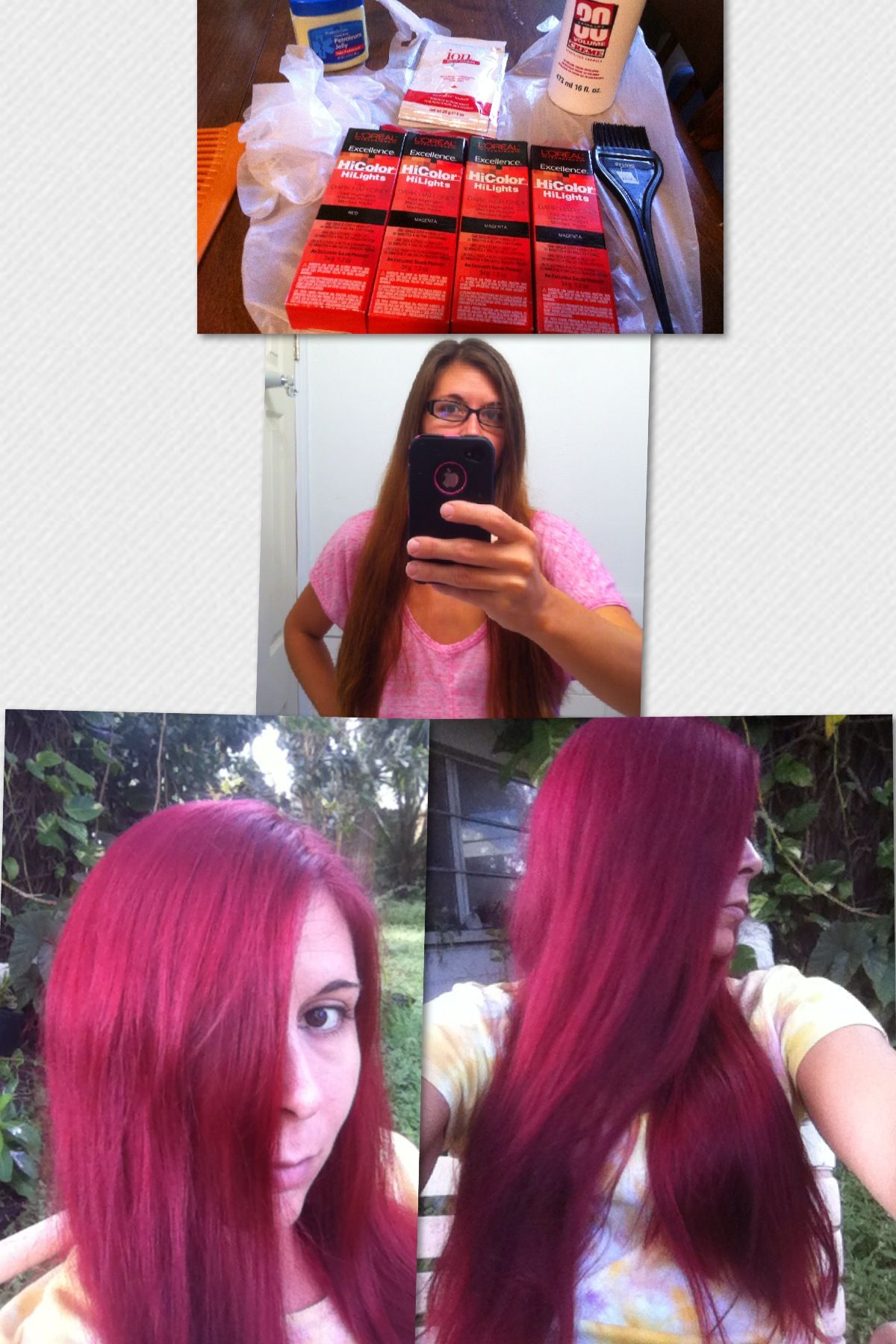 Before and after hair color loreal hilights for dark hair magenta before and after hair color loreal hilights for dark hair magenta i absolutely love geenschuldenfo Gallery