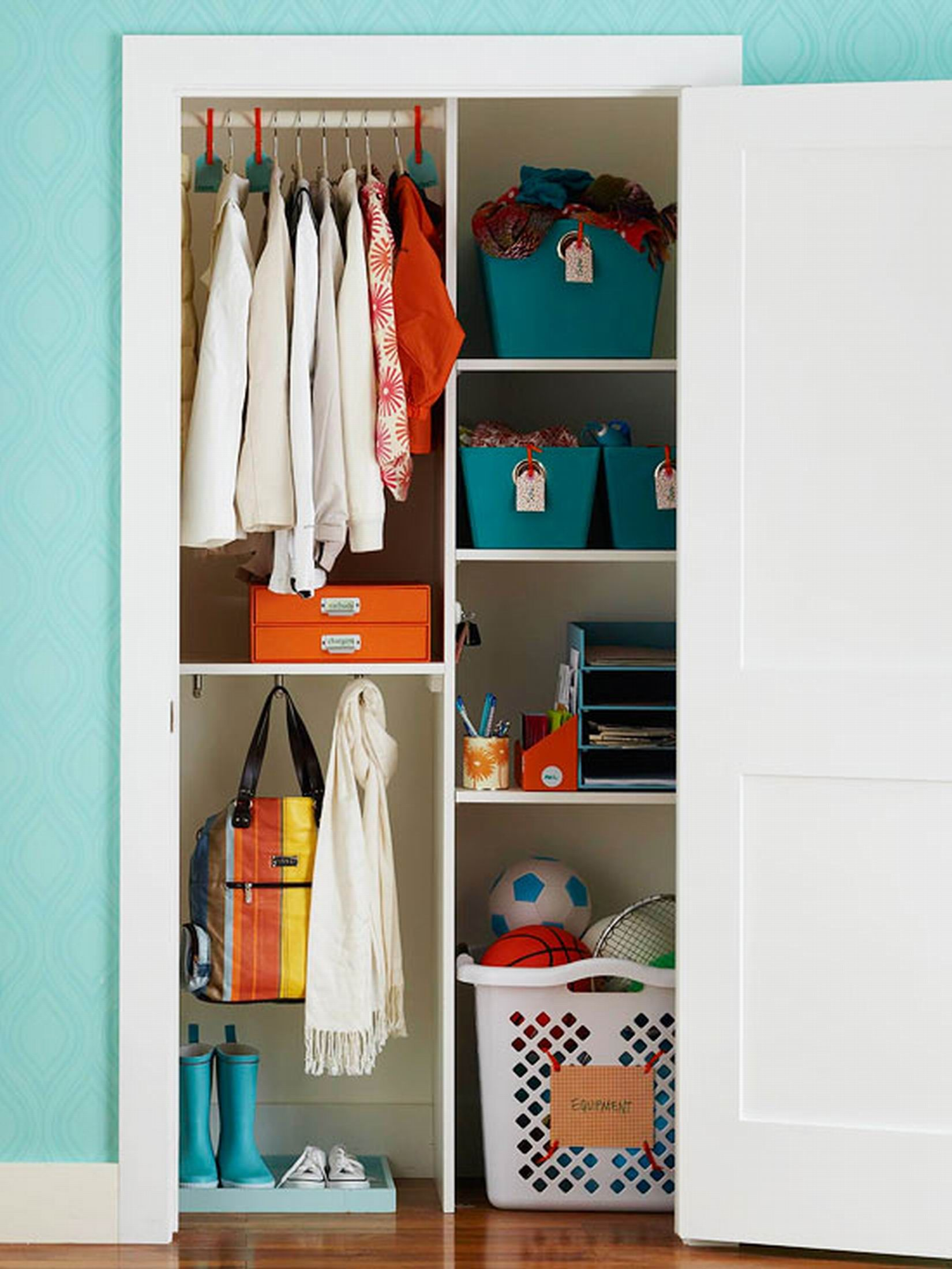 Coat Closet Organization Ideas Part - 17: Is Your Coat Closet Small And Cluttered? Turn Your Messy Coat Closet Into  An Organized Space With The Help Of These 11 Coat Closet Ideas!