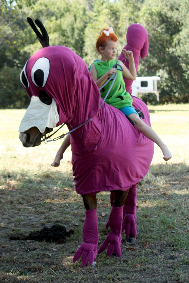 Pebbles and Dino horse costume | Horsey  Halloween ...