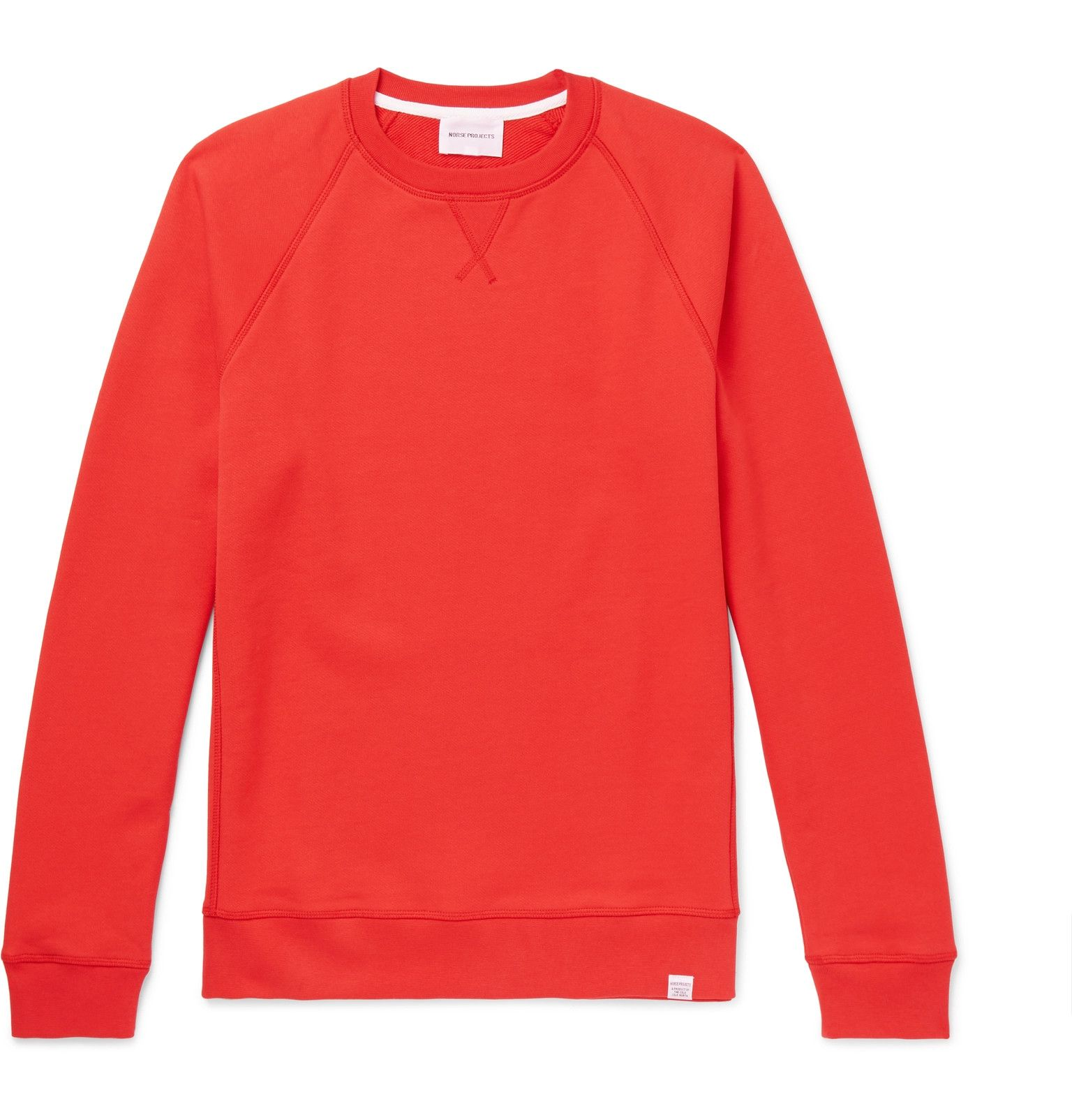 Norse projects Ketel Loopback Cotton-jersey Sweatshirt - Red OSmEGEIWWv