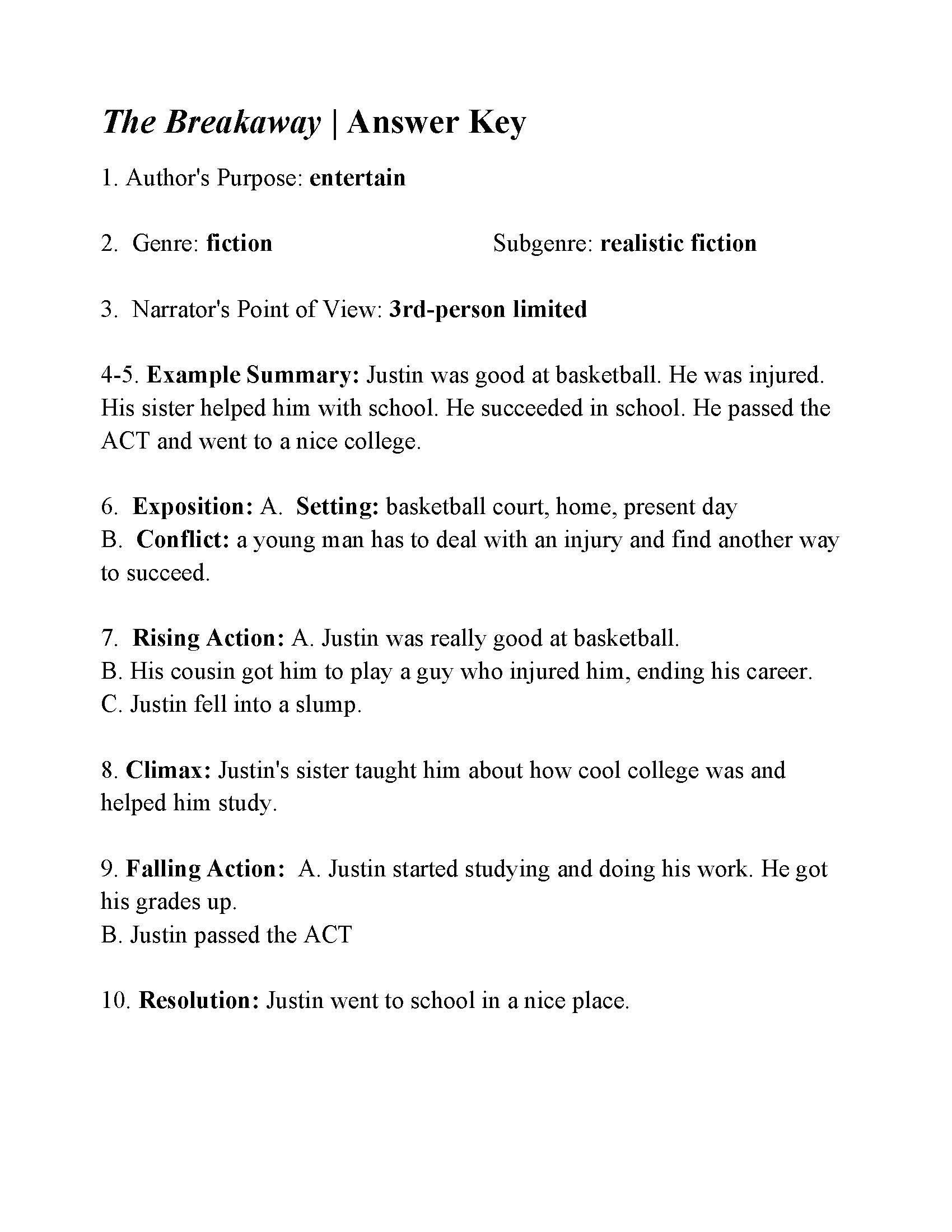Analyzing Author 039 S Style Worksheet The Breakaway In 2020 Word Problem Worksheets Text Structure Worksheets Text Structure