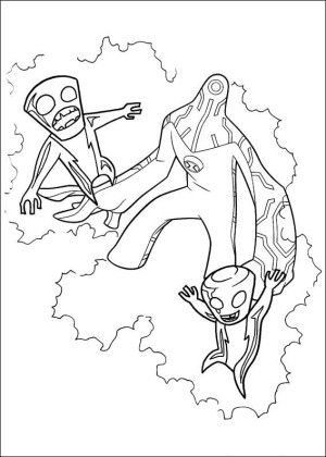 Ben 10 Coloring Page 36