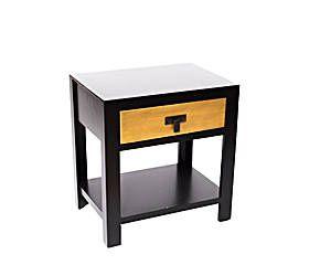 Table dappoint bois doré et noir h105 decoration pinterest