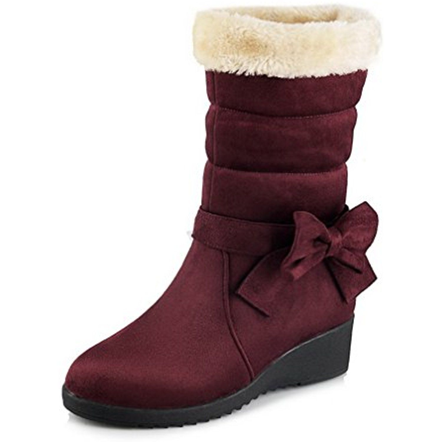 Women's High-Heels Frosted Low-top Solid Pull-on Boots