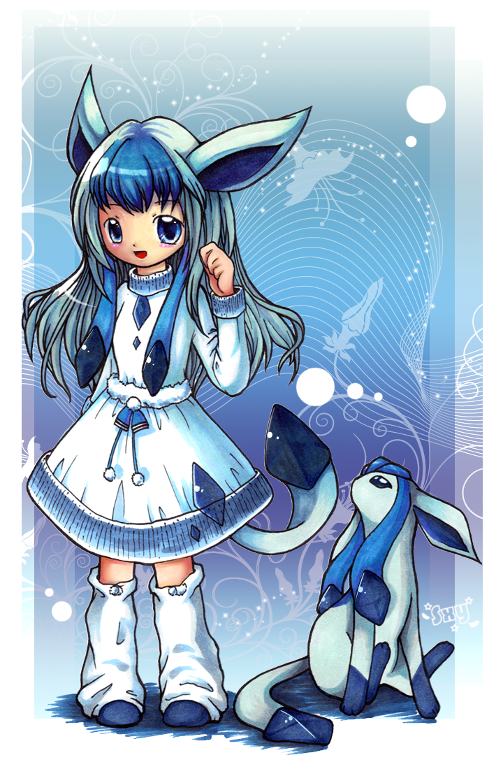 glaceon artwork Pokémon Glaceon Girl Pokemon, Anime