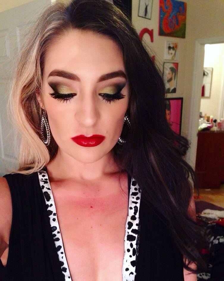 Halloween makeup inspired by the Disney fictional character Cruella de vil