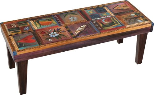 4 Foot Wood Bench Absolutely Love Sticks Stuff This Is Very Whimsical