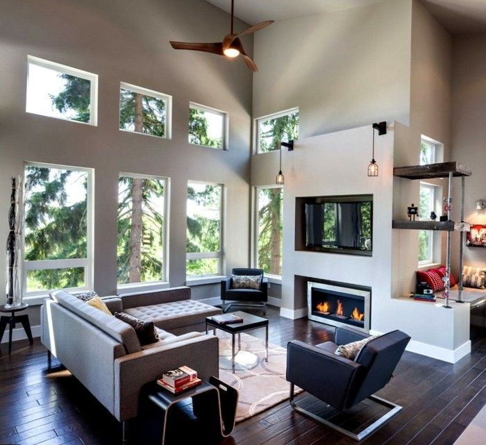 wohnzimmer lampe akzente durch die beleuchtung setzen - moderne wohnzimmer leuchten