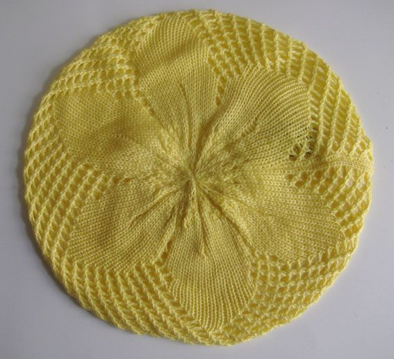 Free Doll Beret Pattern Row 19  (Decrease row) Knitting aa25af0d31