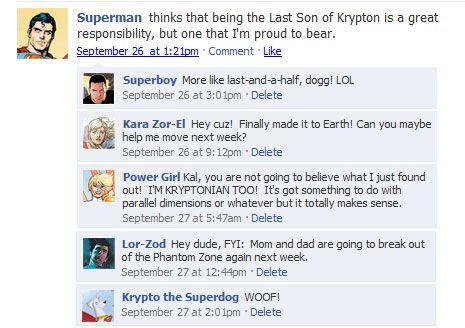 Superhero Facebook Status Updates -- Super-Social Networking - ComicsAlliance | Comic book culture, news, humor, commentary, and reviews