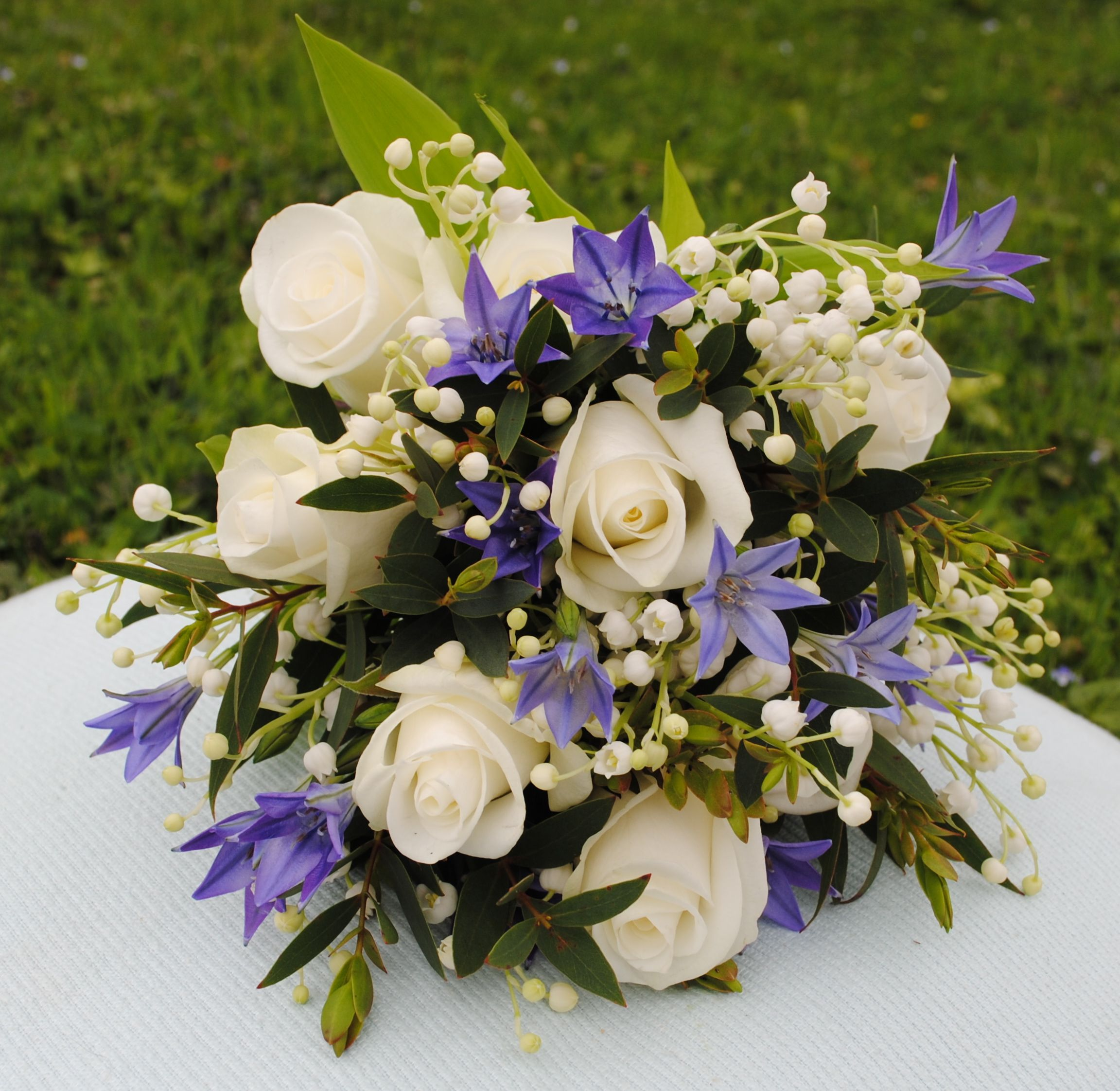 Lily Of The Valley Wedding Flowers: Roses, Lily Of The Valley And Brodea