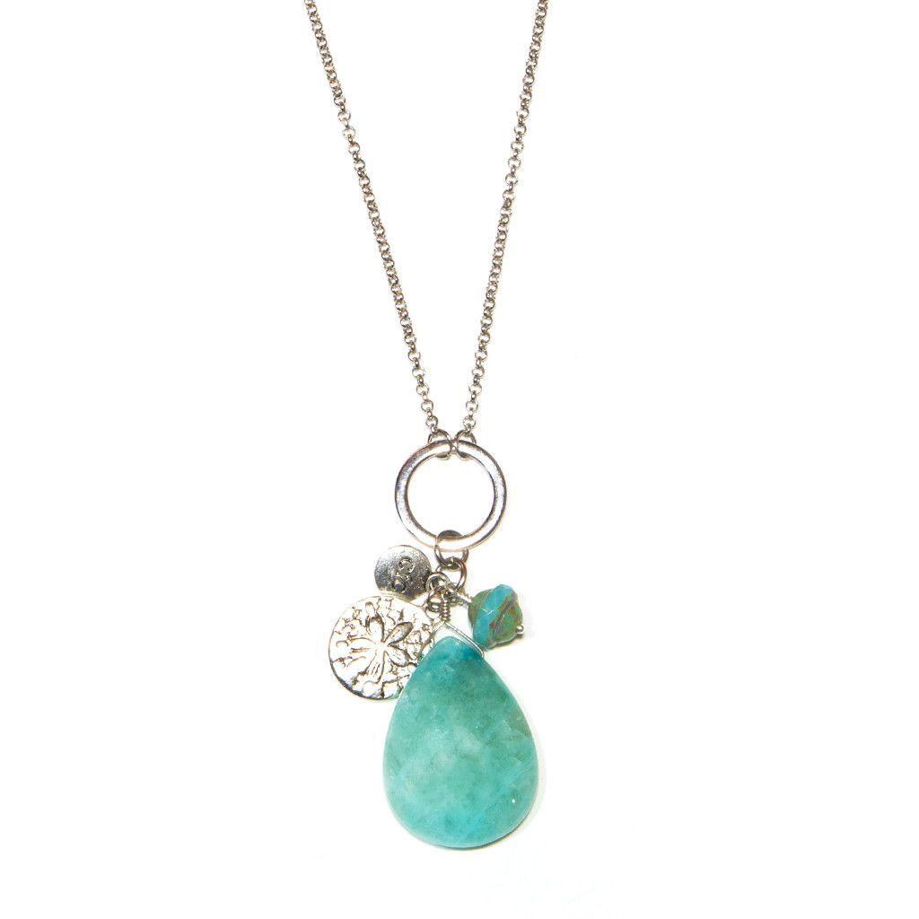 """Seafoam Sand Dollar"" Cluster Necklace"
