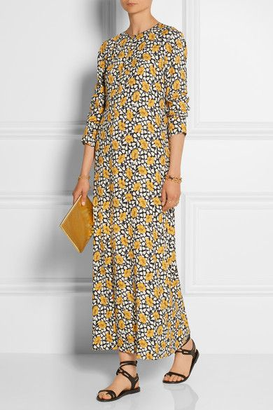 Marni - Printed crepe maxi dress