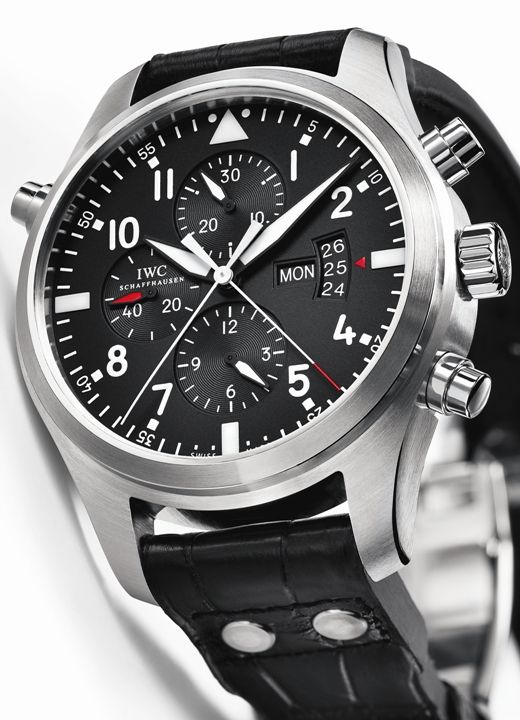 iwc montre d aviateur double chronographe. Black Bedroom Furniture Sets. Home Design Ideas
