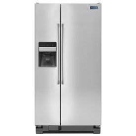 Maytag 24 6 Cu Ft Side By Refrigerator With Single Ice Maker