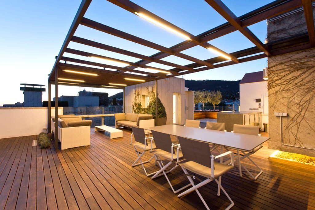 Terraza En Barcelona Terrazas De Estilo De Garden Center Conillas S L Homify Idee Di Design Balconi Moderno