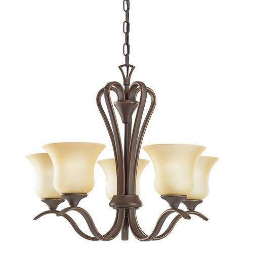 Kichler Wedgeport Single-Tier  Chandelier with 5 Lights - 72  Chain Included - 22 Inches Wide - Olde Bronze