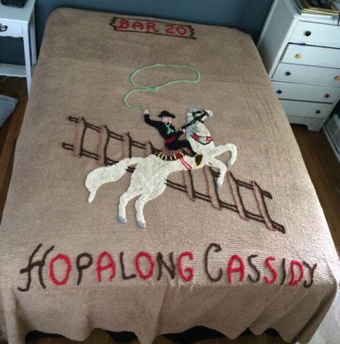 Hopalong Cassidy Bedspread Medium Brown Fits A Full Queen Size | eBay