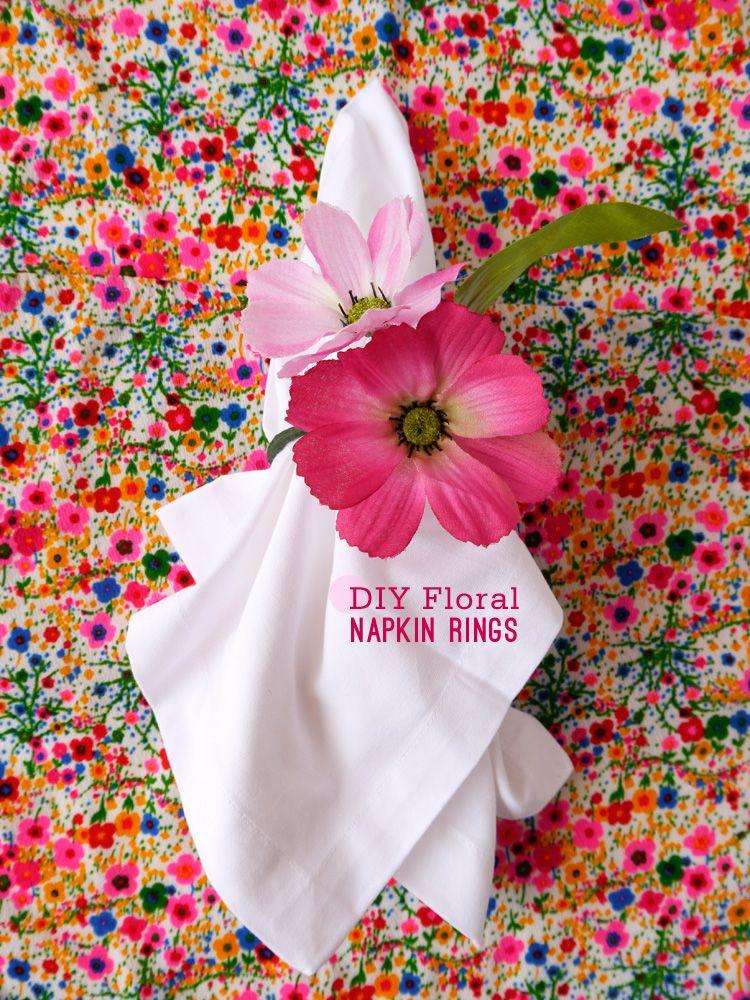 Diy floral napkin rings napkin rings napkins and floral diy floral napkin rings image via freutcake mightylinksfo