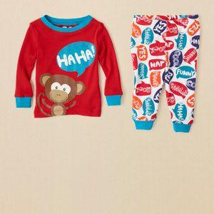 Baby Boy Sleep Underwear Monkey Pj Set Children S Clothing