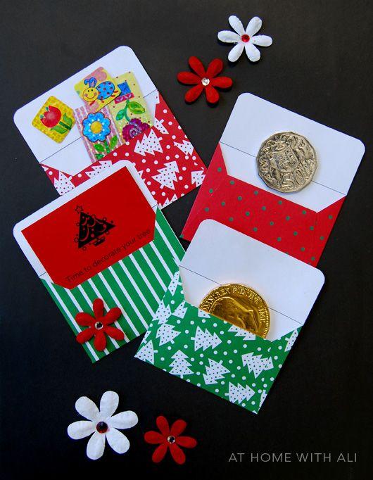 Envelope Advent Calendar Ideas : Make a mini envelope christmas advent
