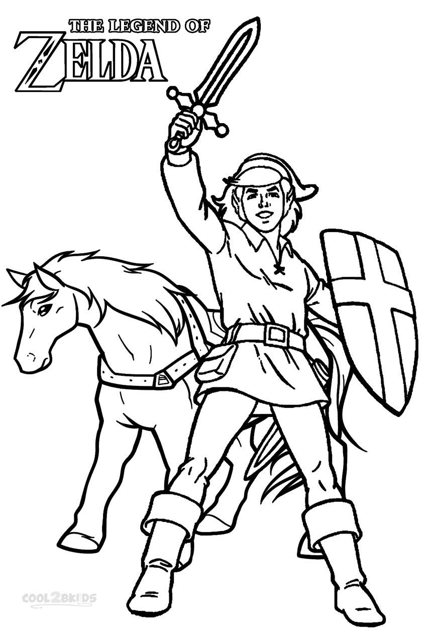 Printable Zelda Coloring Pages For Kids  Cool24bKids  Princess