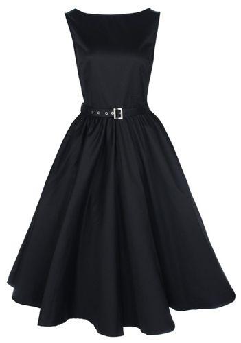 Kjoledamen Sort Sofistikert Med 50 Audrey Dekorative Kjole Talls BZrzqBwv