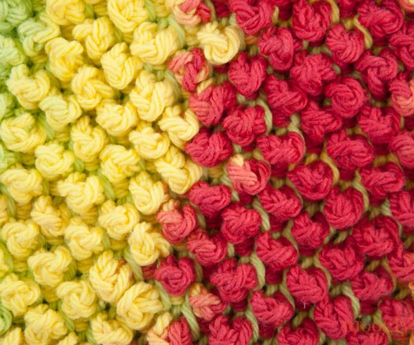 Tunisian Pebbles - free pattern ~ great textural stitch for freeform ...