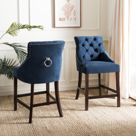 Surprising Safavieh Eleni 26 In H Tufted Wing Back Counter Stool With Alphanode Cool Chair Designs And Ideas Alphanodeonline