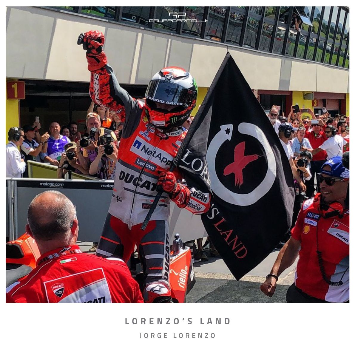 Lorenzo Land T-Shirt Red New Official Jorge Lorenzo