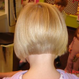 stacked and inverted bobs girls