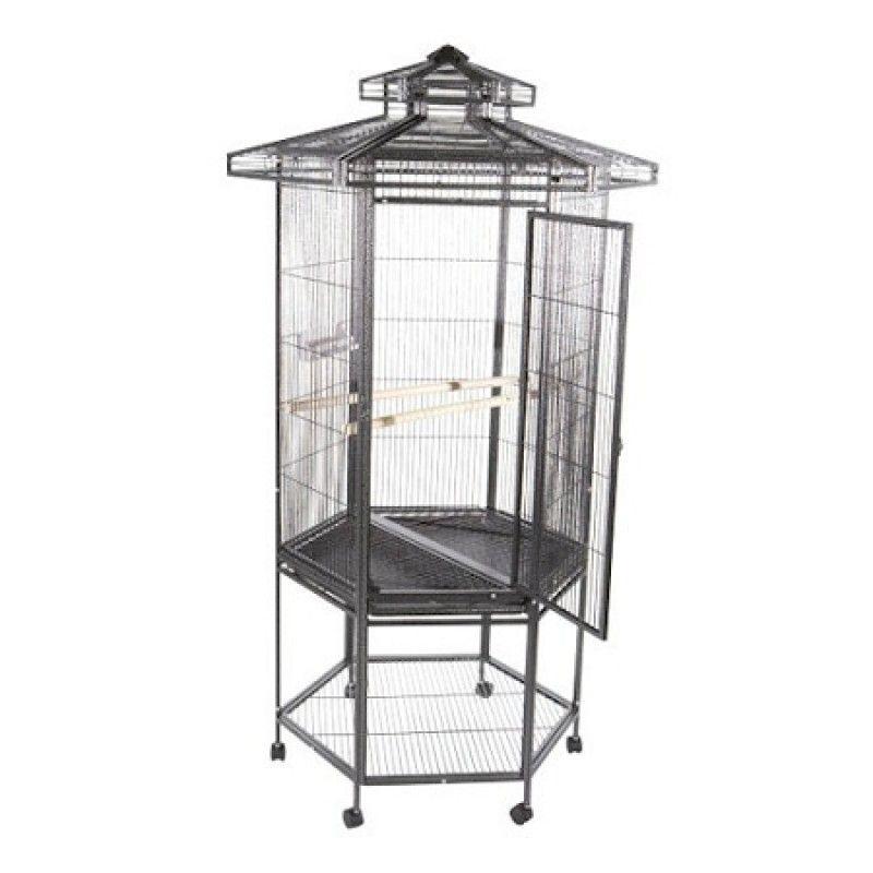 Hexagonal Aviary Bird Cage - Black   Bird Cages   Pinterest   Bird ...