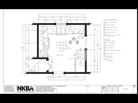 Kitchen and Bath Drawing Floor Plan YouTube Kitchen