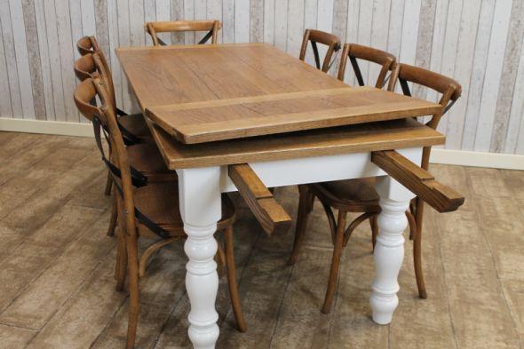 Stupendous Farmhouse Extending Table Kitchen Farmhouse Table Download Free Architecture Designs Grimeyleaguecom