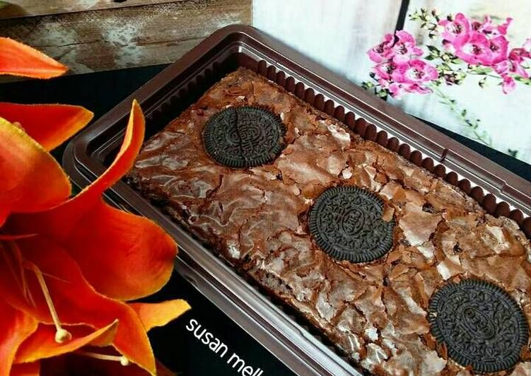 Resep Chewy Brownies Kisahkasihcookpad Oleh Susan Mellyani Resep Resep Makanan Dan Minuman Makanan