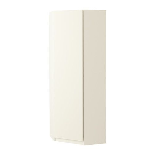 PAX Hoekgarderobekast - Ballstad wit, wit, 73/73x201 cm - IKEA