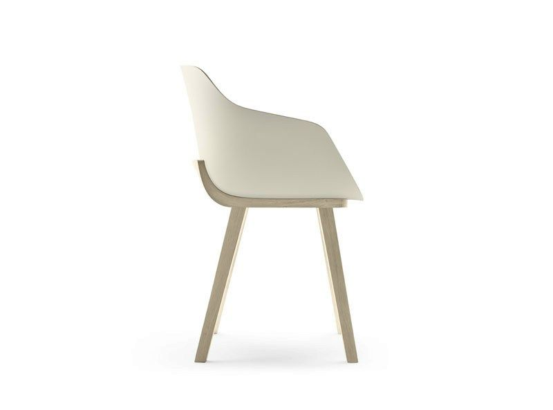 Eco plastic chair with armrests KUSKOA BI Kuskoa Collection by ALKI