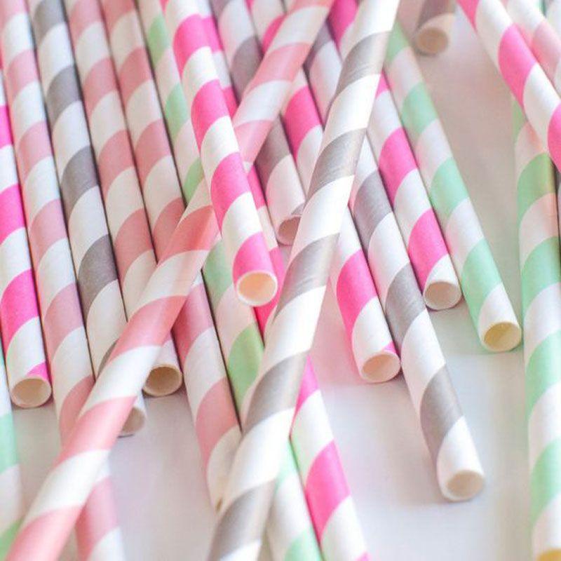 50 pcs Paper Drinking Straws Stripe Polka Dot Party Decoration Wedding Kids Birthday Events Supplies Home DIY Crafts >>> Visit the image link more details.