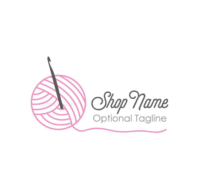 Knitting Logo Ideas : Crochet logo yarn handmade shop knit