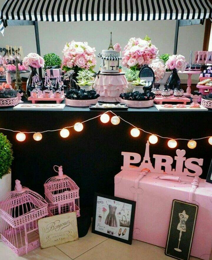 Paris festa paris party id ias pinterest paris theme for Decoracion quince anos paris