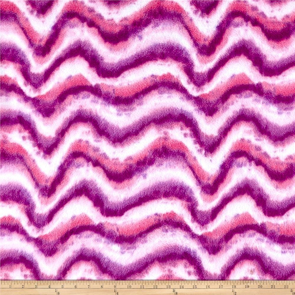 Fleece print tie dye swirls pink from fabricdotcom this soft warm