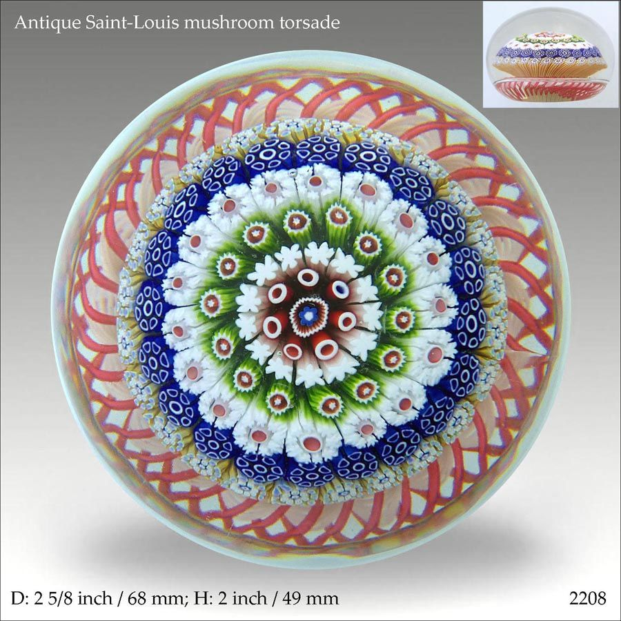 Antique Saint Louis mushroom paperweight (ref. 2208) | Paperweights ...