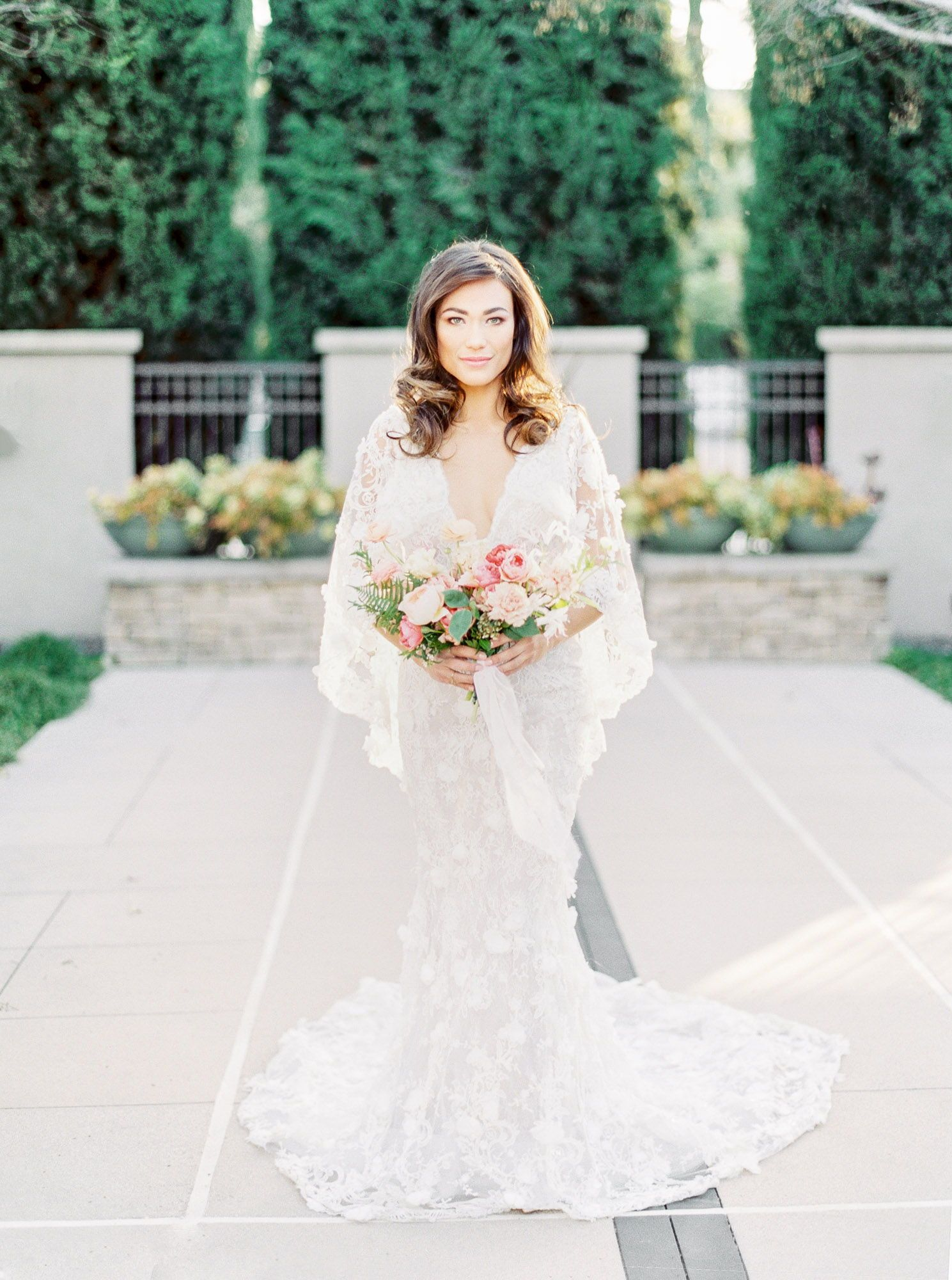 San Diego Bridal Portraits With A Marchesa Gown On Film Bridal