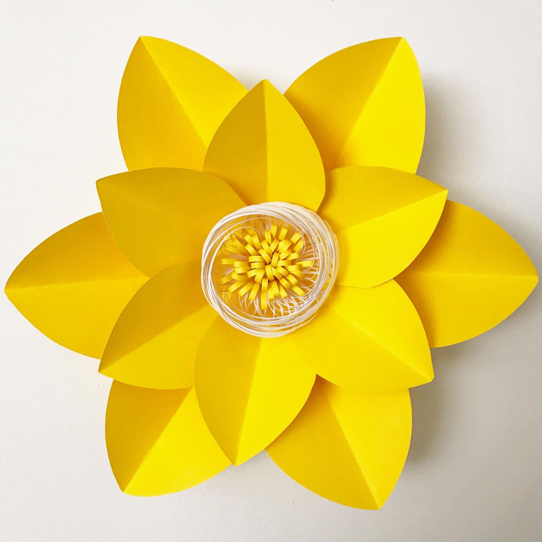 PDF Paper Flower Template with Base, DIGITAL Version - Original ...